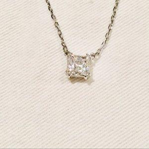 Swarovski Silver-tone Crystal Pendant Necklace